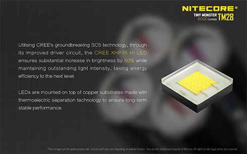 A CREE SC5 technológiájának köszönhetően akár 50%-al nagyobb fényerő elérésére képes ugyanakkora teljesítményen,       új szintre emelve ezzel az energiataakrékos világítást.