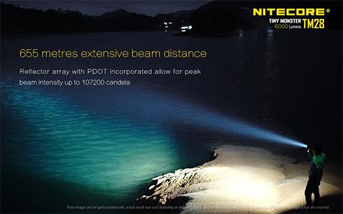 A Tiny Monster 28 elemlámpa 665 méterre világít és még itt is értékelhető megvilágítást biztosít!