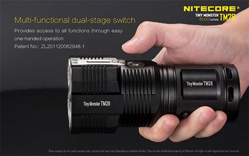 Multifunkciós kapcsoló, az egyszerű egy kezes használathoz.