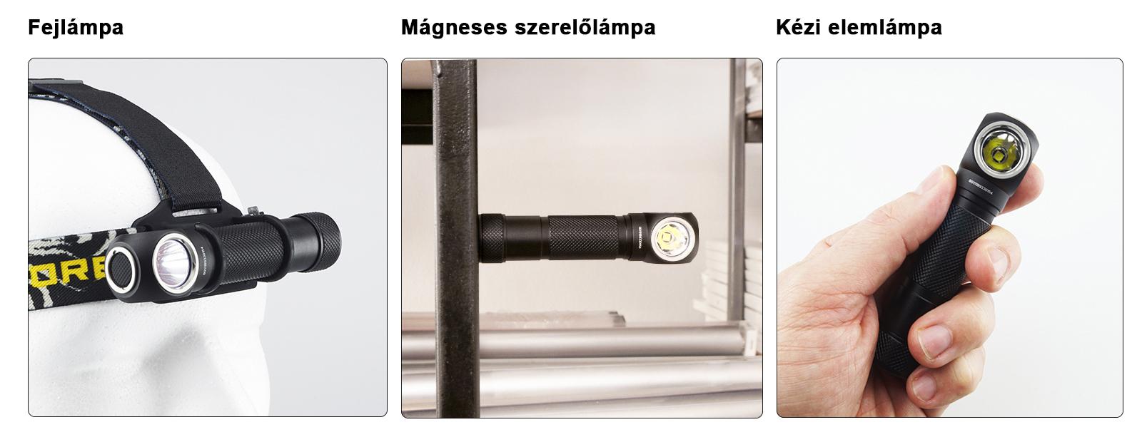 Nitecore HC33 fejlámpa, mágneses szerelőlámpa, kézi elemlámpa