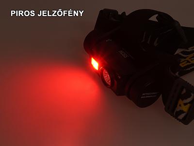 Nitecore HC65 piros jelzőfény funkció