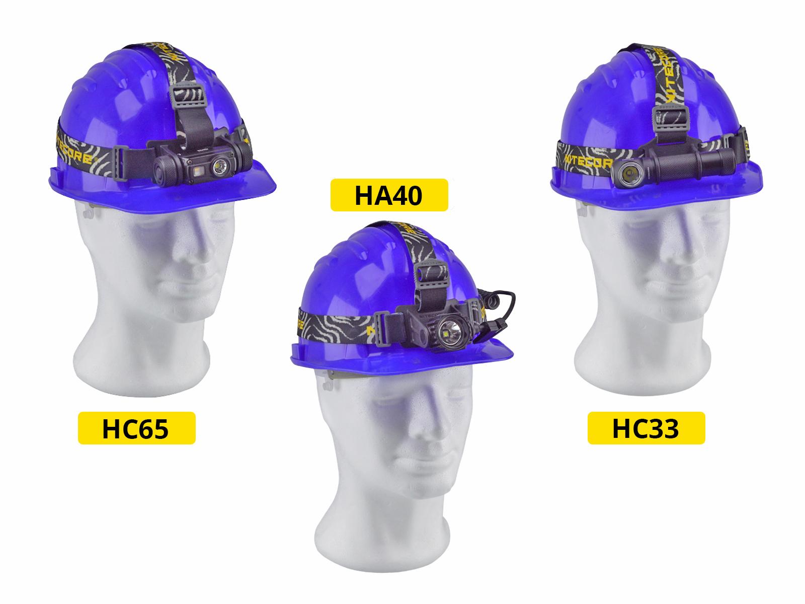 Nitecore HC65, Nitecore HA40, Nitecore HC33