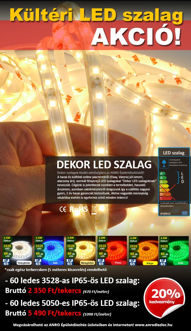 Olcsó kültéri LED szalagok