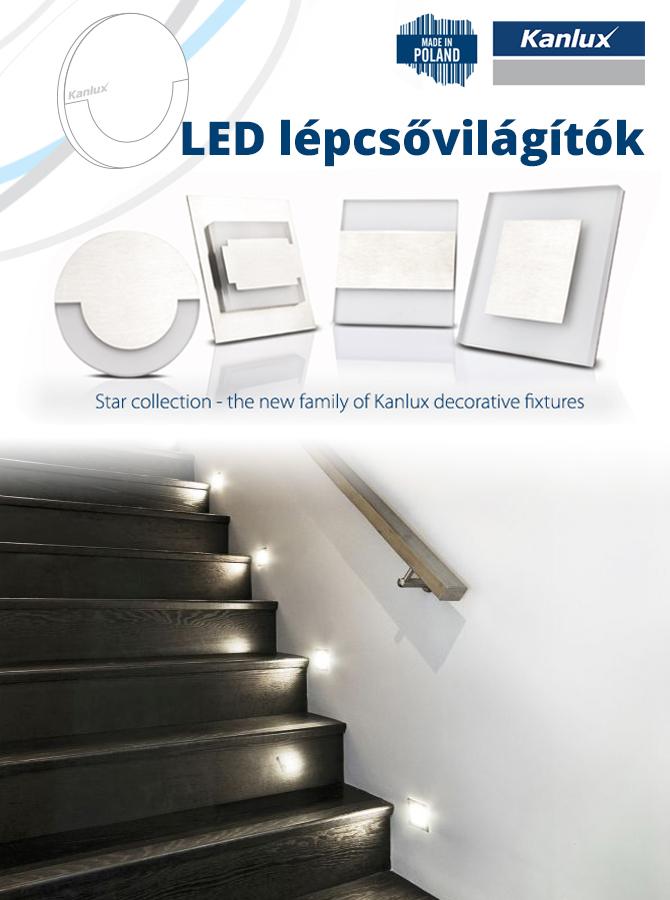 Kanlux Oldalfali dekor LED lámpa TERRA, hideg fehér (12V/0,8W ...