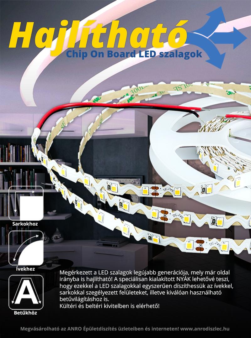Ívelhető - oldalirányba is hajlítható 12 voltos LED szalagok - webáruház