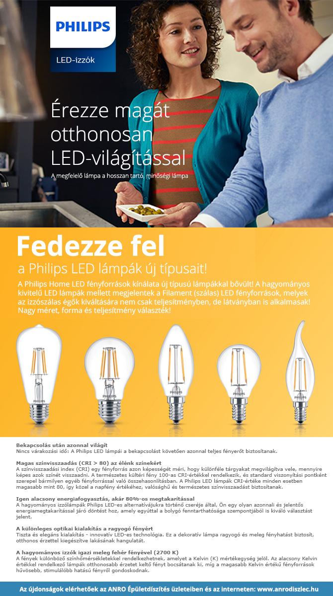 Új típusú Philips LED lámpák érkeztek!