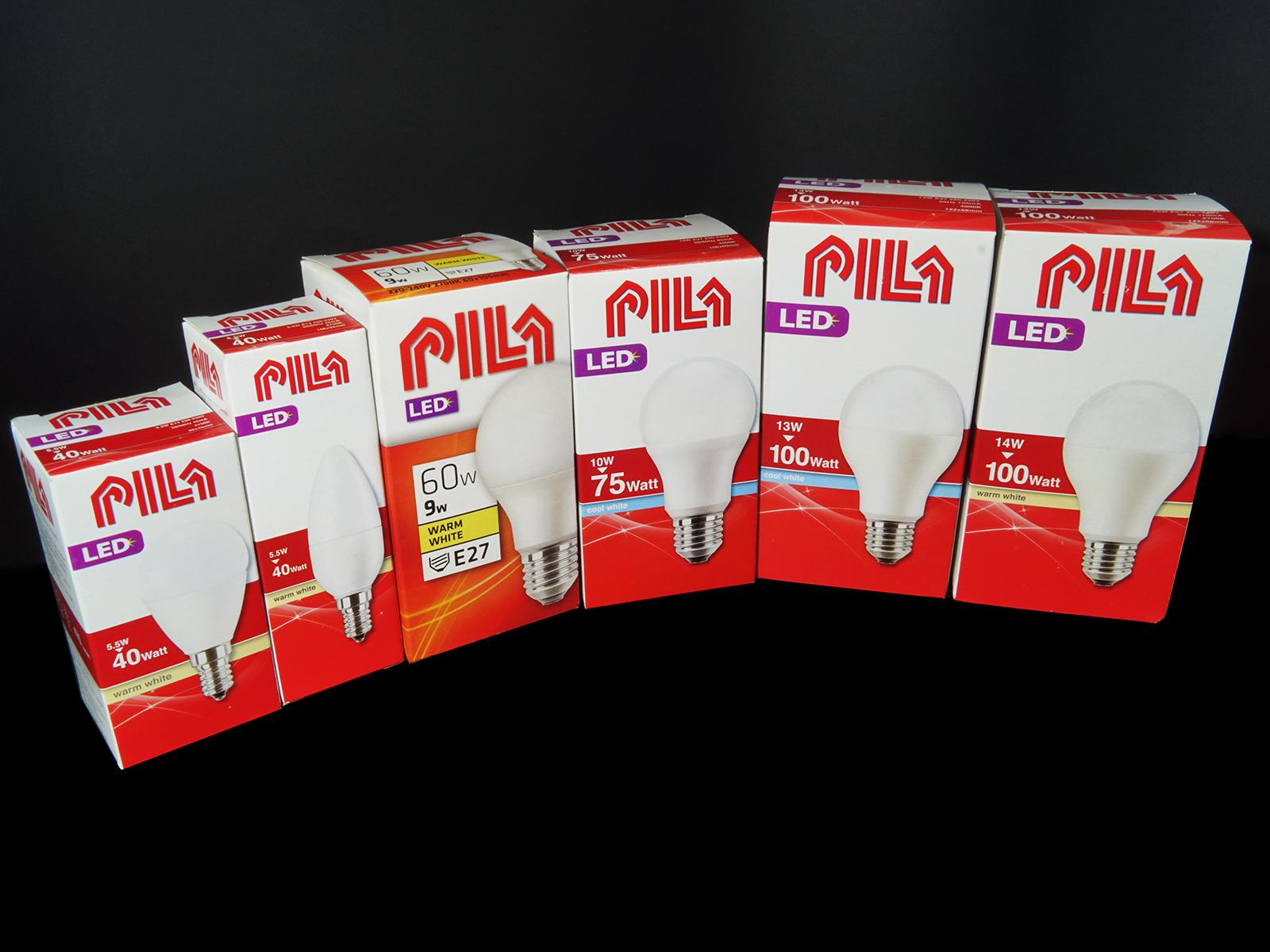 Pila LED izzók a Philips cégcsoporttól: E27 és E14 opál LED lámpák