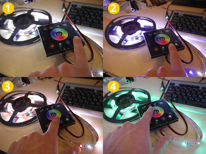 RGBW LED vezérlő működési módok