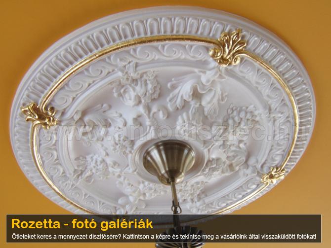 Rozetta - mennyezeti díszek fotó galériája - ötletek
