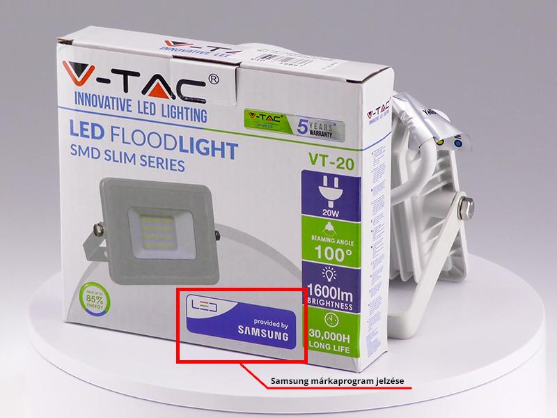 A LED lámpák dobozán ezen a módon jelennek meg a Samsung partnerprogramban szereplő termékek