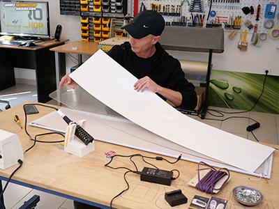 A LED panel szendvicsszerkezete