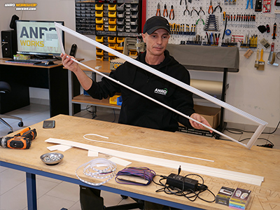 A LED panel alumínium kerete