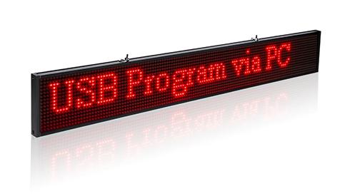 USB-n keresztül programozható LED reklámmtábla, fényújság