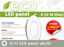 ECO LED panel akció