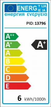 V-TAC E27 LED lámpa 6W (200°) - Körte RGB+CW+Távirányító