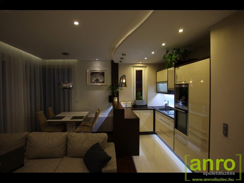 Konyhabútor, étkező LED világítás fotók - Díszléc és LED lámpa Webáruház