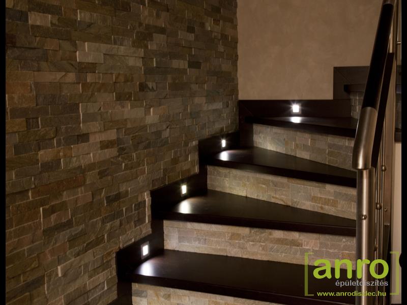 Lépcső világítás LED lámpákkal, fotókkal - Díszléc és LED lámpa ...
