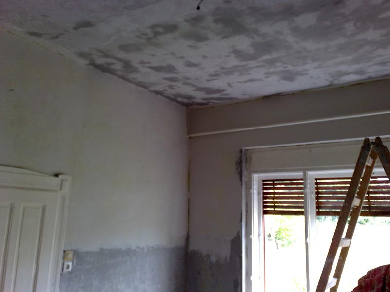 Tapasztott fal glettelése