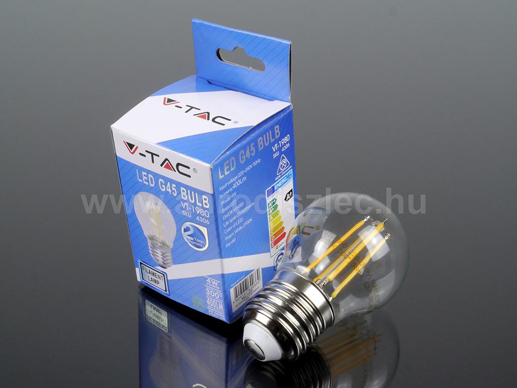 Nagy menetes E27 fejű LED villanykörte 4W = 40W