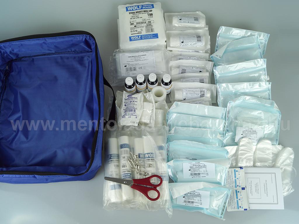 IV mentőláda (kék) zipzáros táskában