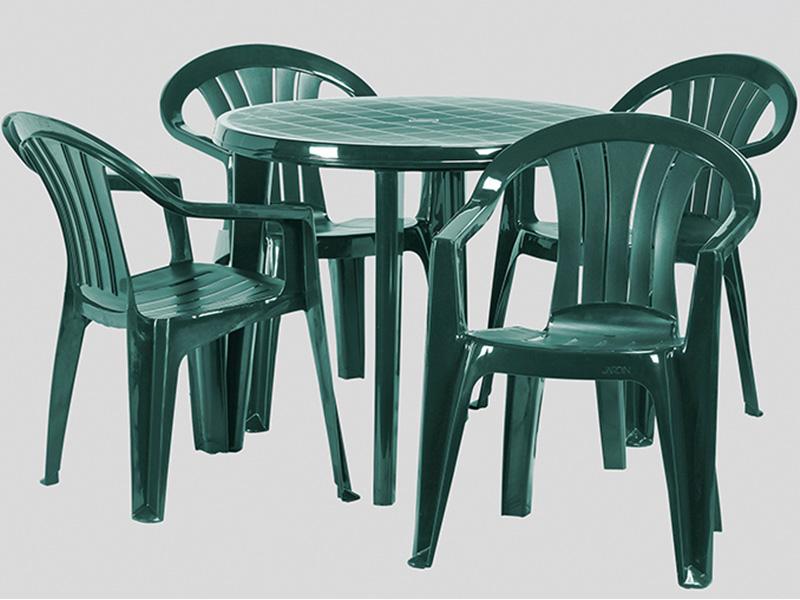 Curver Lisa műanyag kerti asztal sötét zöld