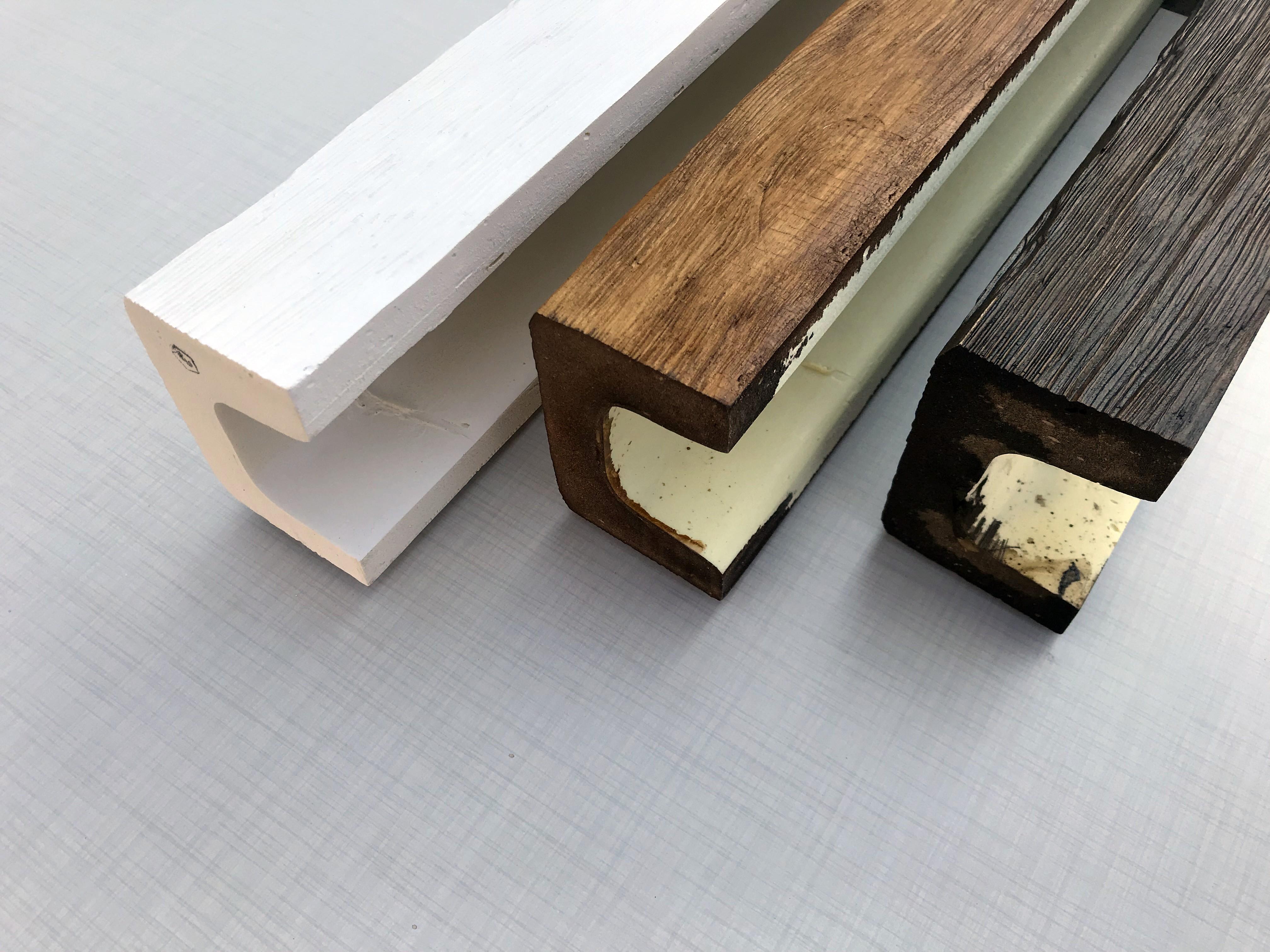 DecoWood antik poliuretán gerenda profilok, modern, 9x12 cm, fehér, világos, sötét