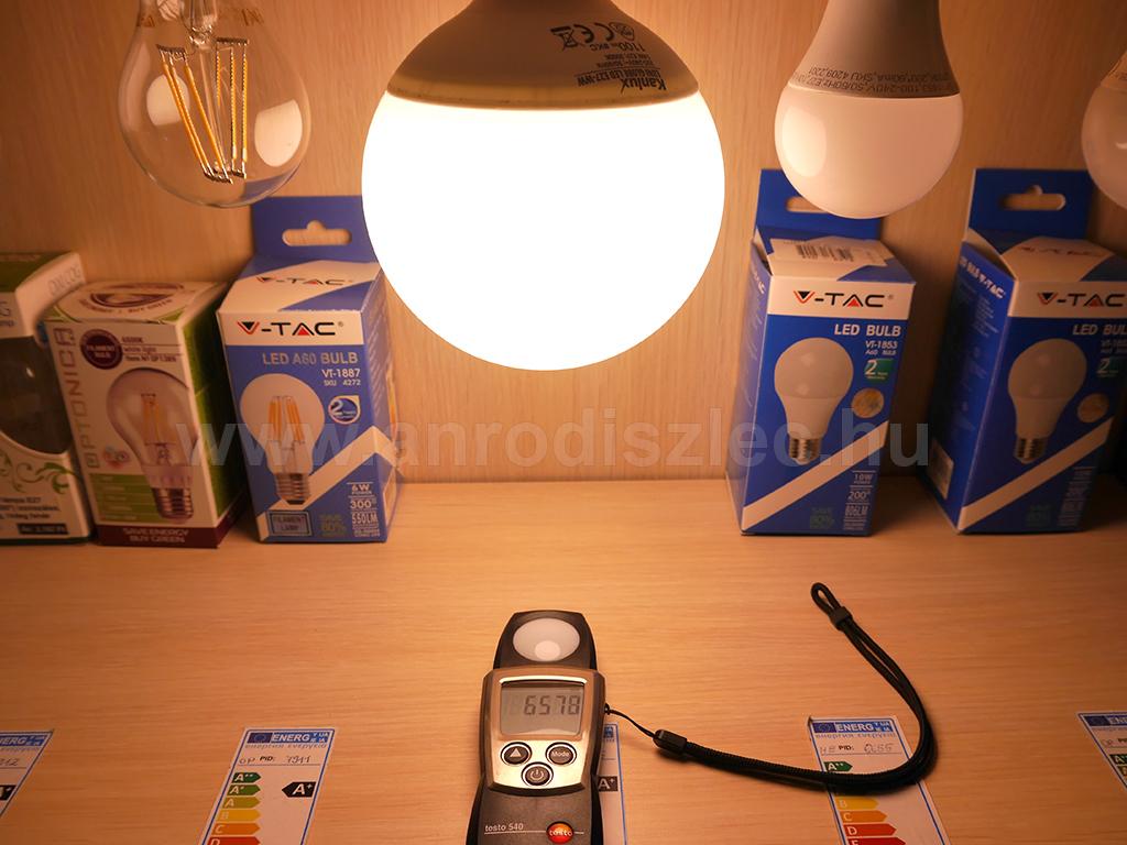 Kanlux G120 LED lámpa. 14 Watt LED = 77 Watt hagyományos izzó.