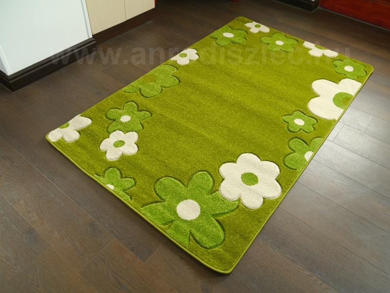 Függöny Center Lares Frizee szőnyeg (0037B) Zöld virág - 80x150 cm - Ár: 9 776 Ft - Szőnyeg ...