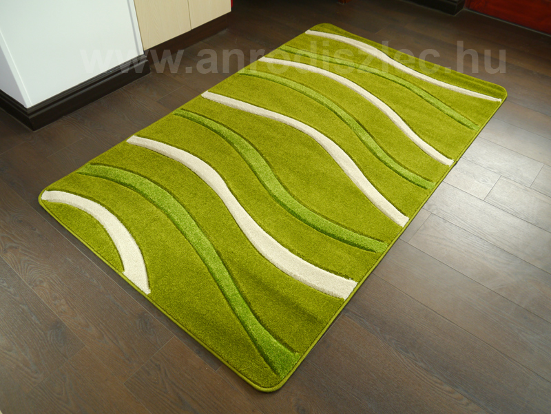 Lares Frizee szőnyeg (0244A) Zöld hullám - 120x200 cm - Ár: 18 476 Ft - Szőnyeg - Díszléc és LED ...