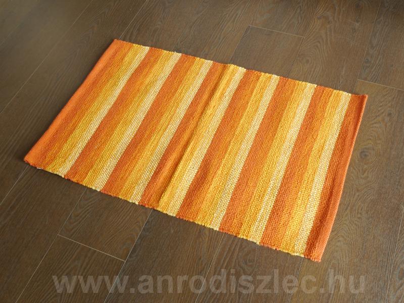Függöny Center Fürdőszobai kilépő szőnyeg Ural narancs csíkos ...
