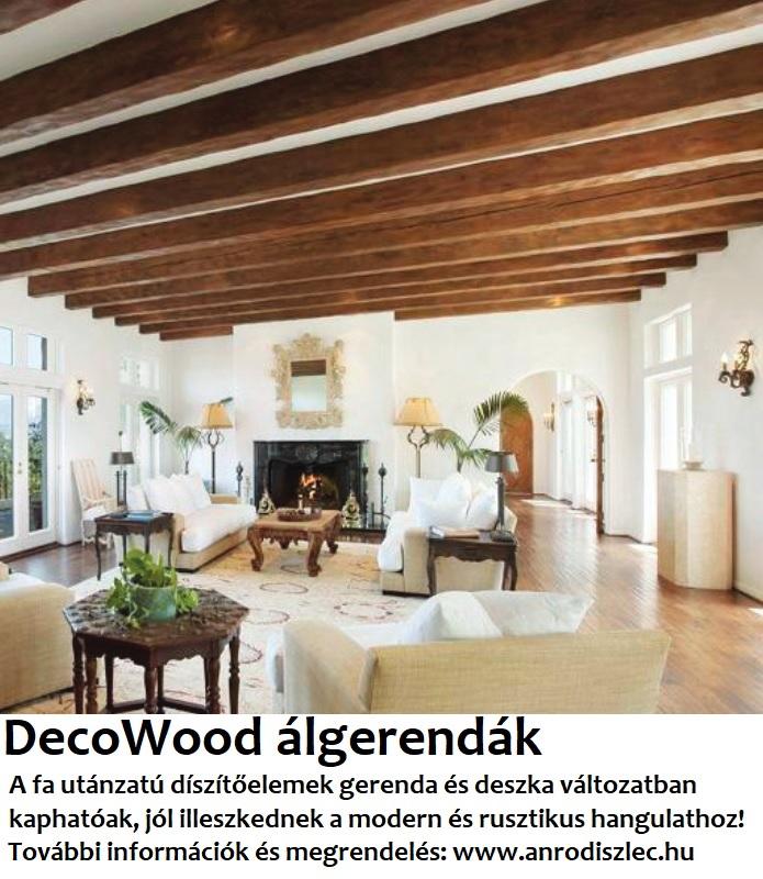 Decowood fa utánzatú álgerenda és antik deszka profil poliuretánból