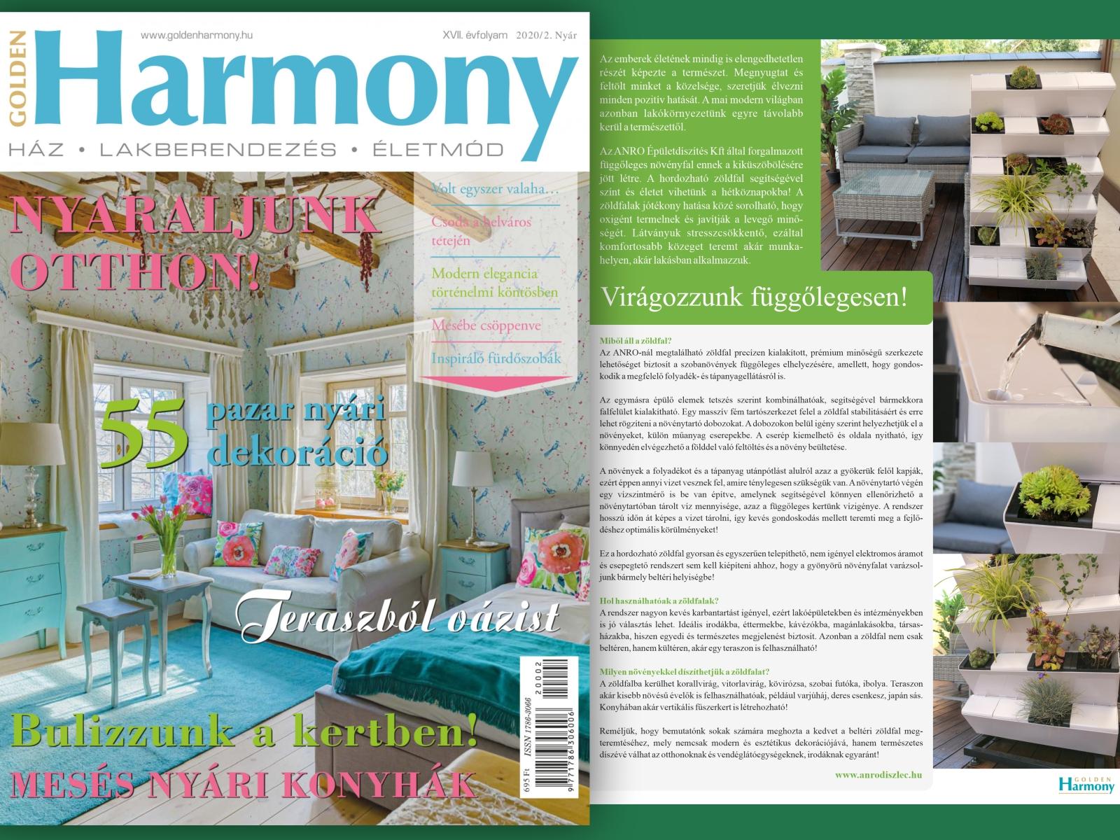 Cikkünk a Golden Harmony lakberendezési magazinban is megjelent!