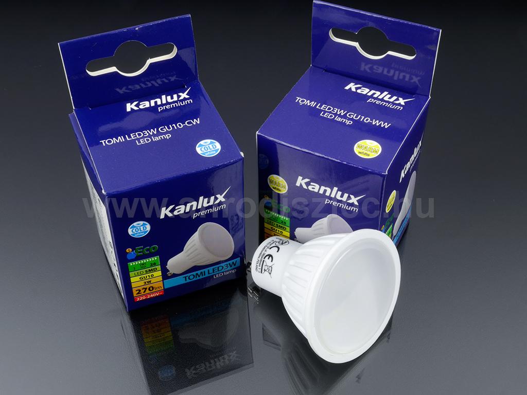 Kanlux LED spot égő. 3 Watt LED = 26 Watt hagyományos fényforrás.