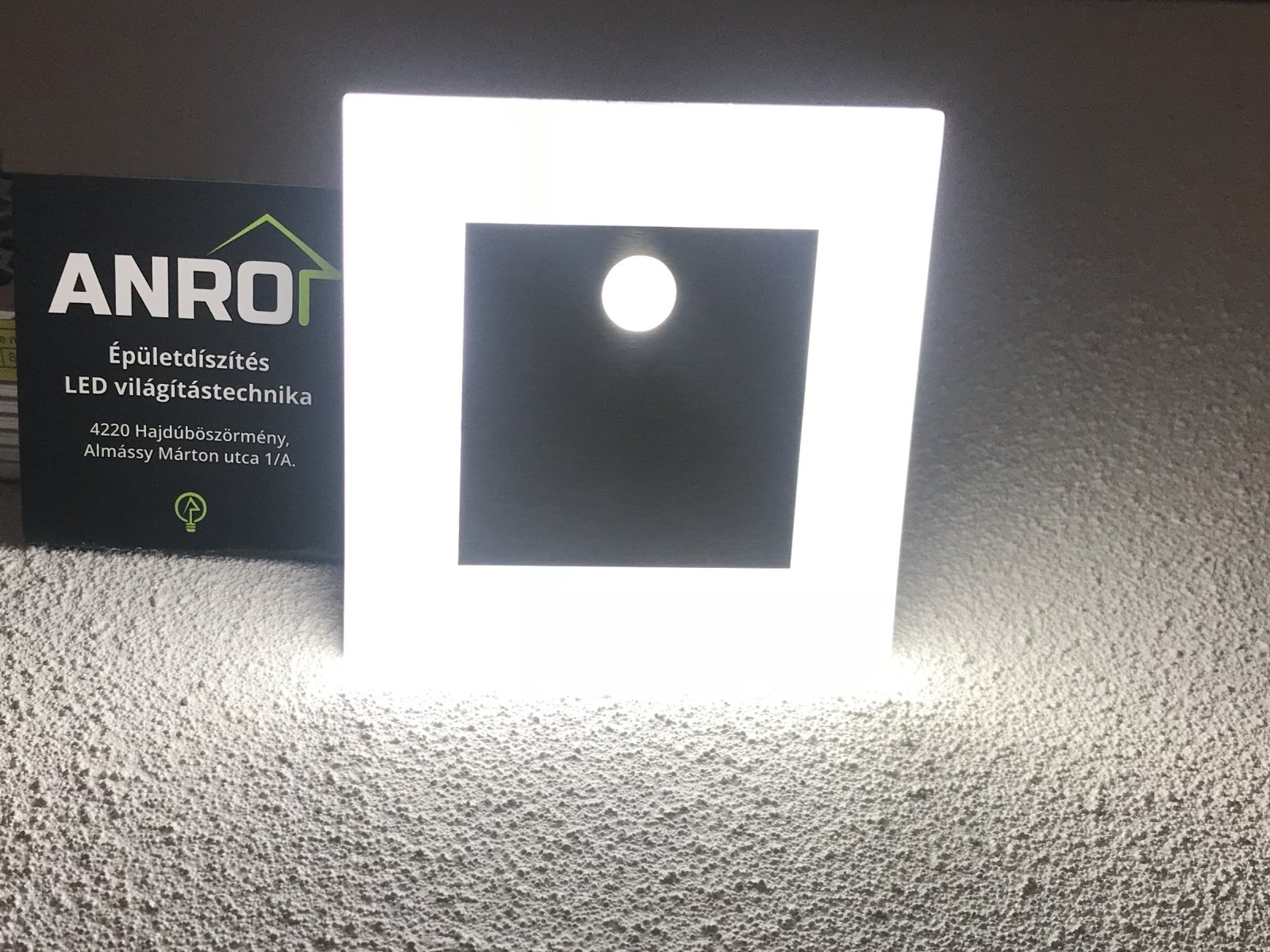 Kanlux Apus LED Pir mozgásérzékelős fali lámpa hidegfehér fénnyel