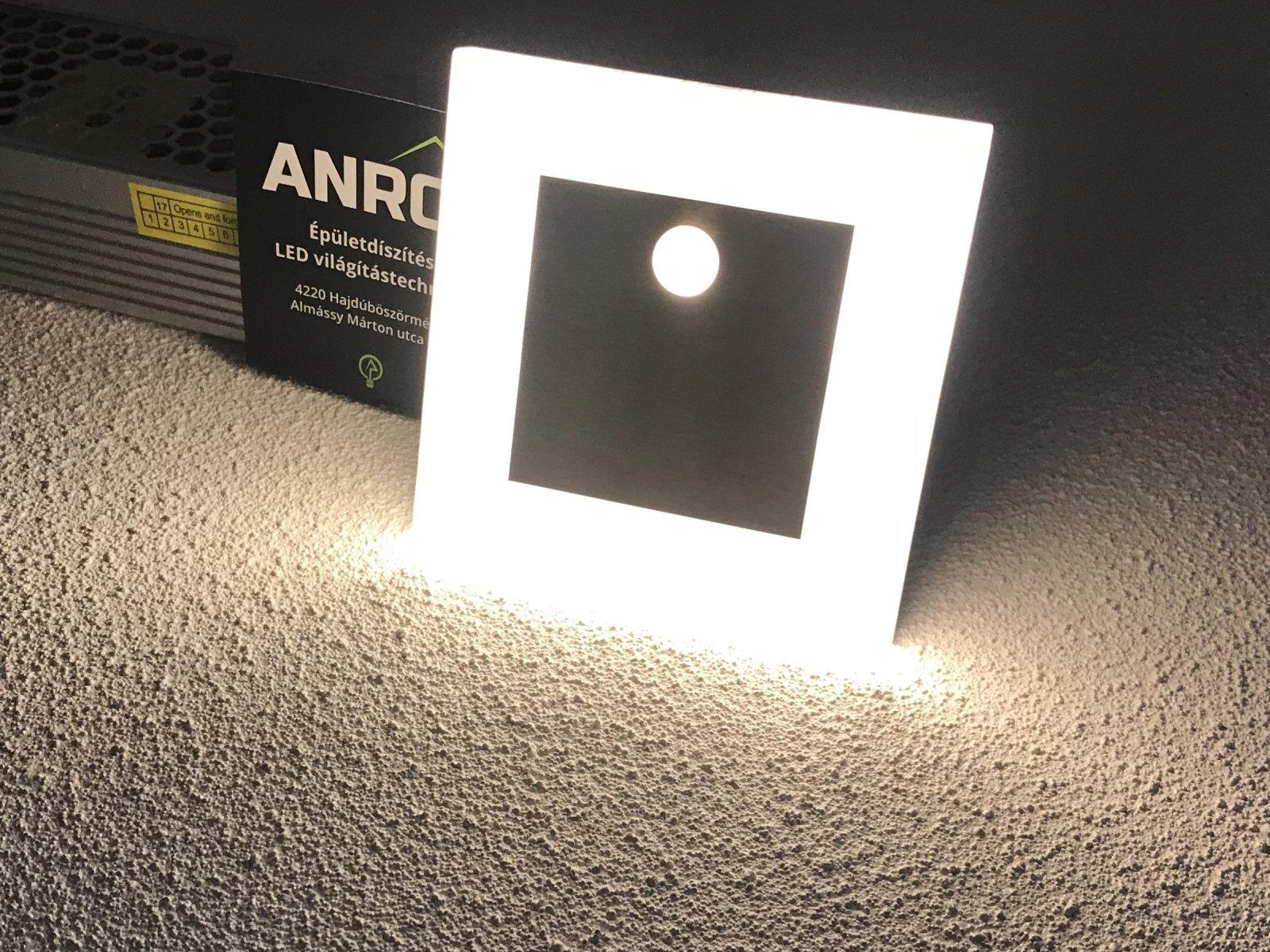 Kanlux Apus LED Pir mozgásérzékelős fali lámpa melegfehér fénnyel