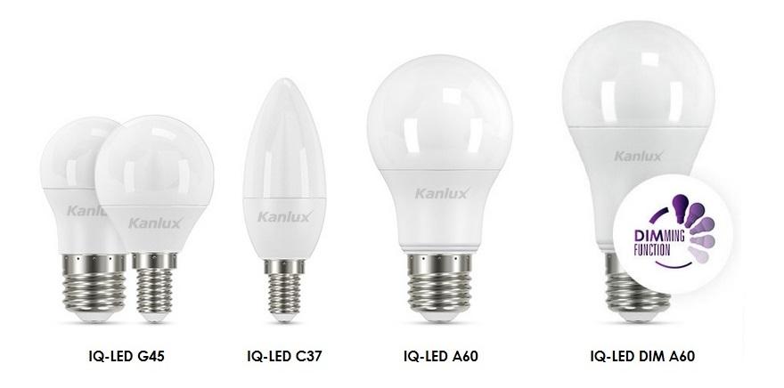 Kanlux IQ LED izzók E14 és E27 foglalattal, 3 év garanciával