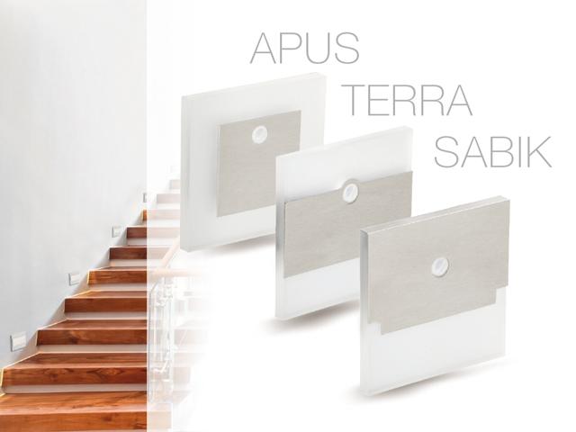 Kanlux Apus PIR, Sabik PIR, Terra PIR ledes lépcsőlámpák