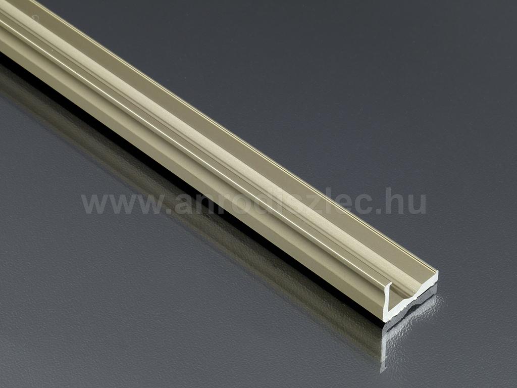 lumines aluminium l profil led szalaghoz 16x10 mm barna r 830 ft alum nium led profil. Black Bedroom Furniture Sets. Home Design Ideas