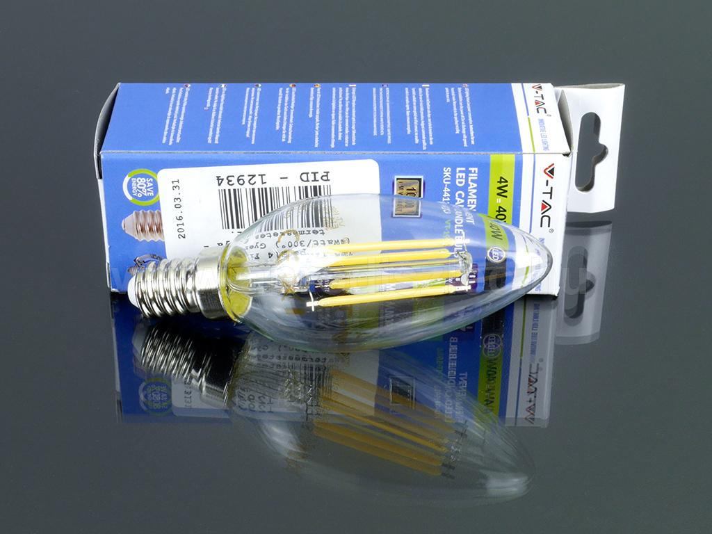 Kis menetes E14 foglalatos LED gyertya égő 4W = 40W