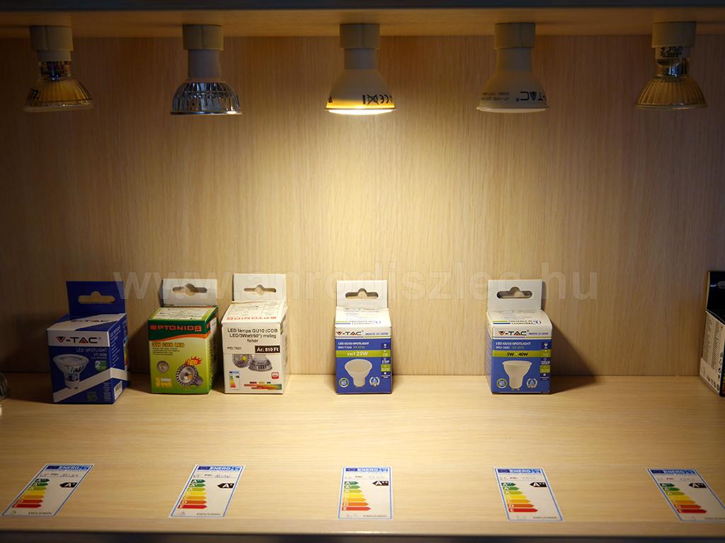 VTAC LED spotlámpa felkapcsolva - 3W akció csak 400 Ft/darab ár!