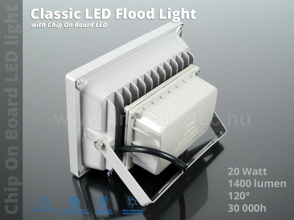 optonica led reflektor 20 watt 120 meleg feh r r 4. Black Bedroom Furniture Sets. Home Design Ideas