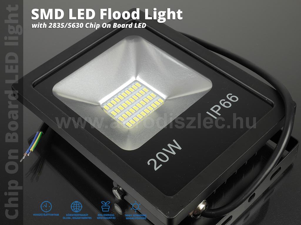 optonica smd led reflektor 20 watt 150 hideg feh r r. Black Bedroom Furniture Sets. Home Design Ideas