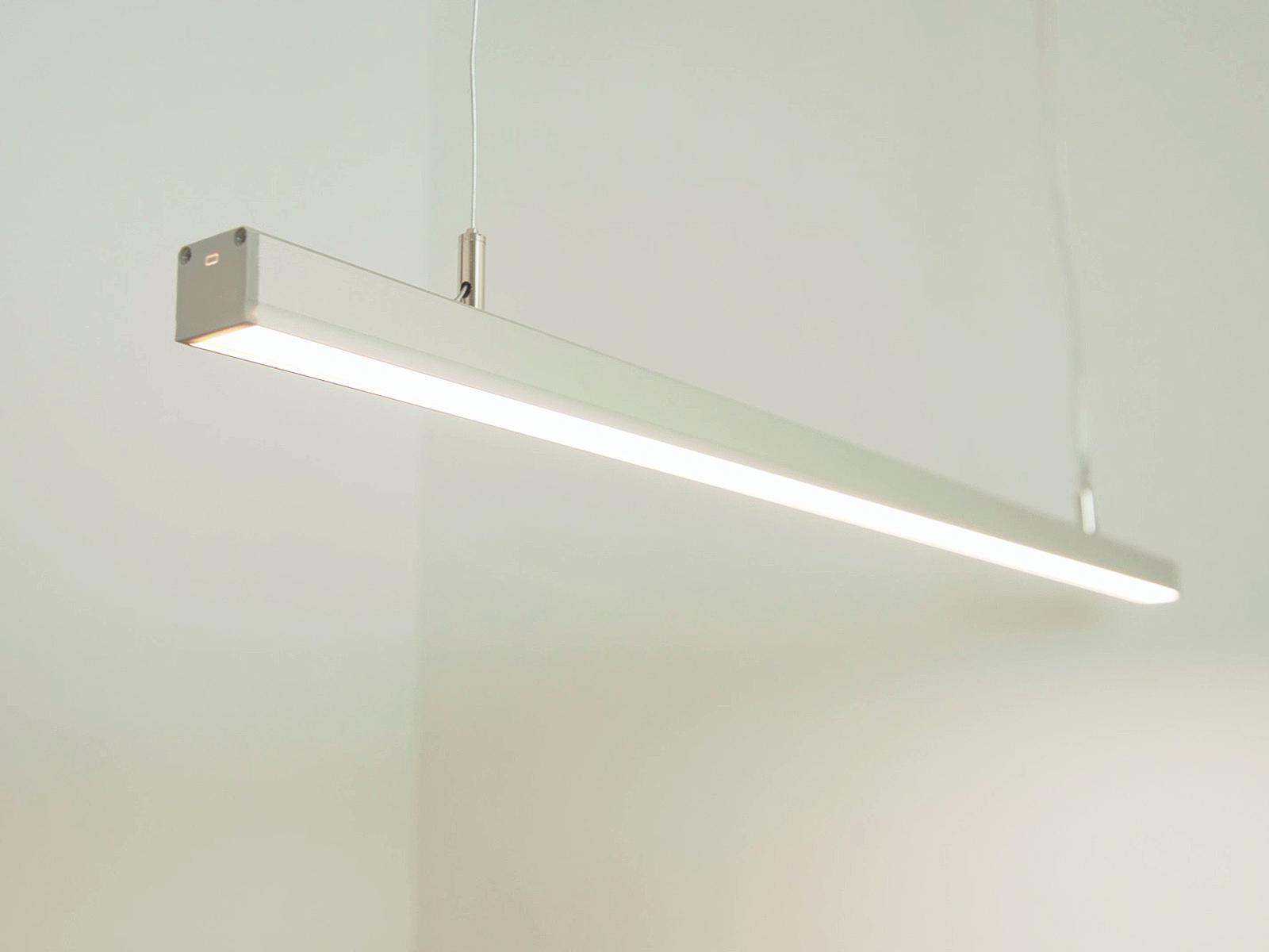 Egyedi függesztett LED lámpa Lumines Dileda LED profil és LED szalag felhasználásával