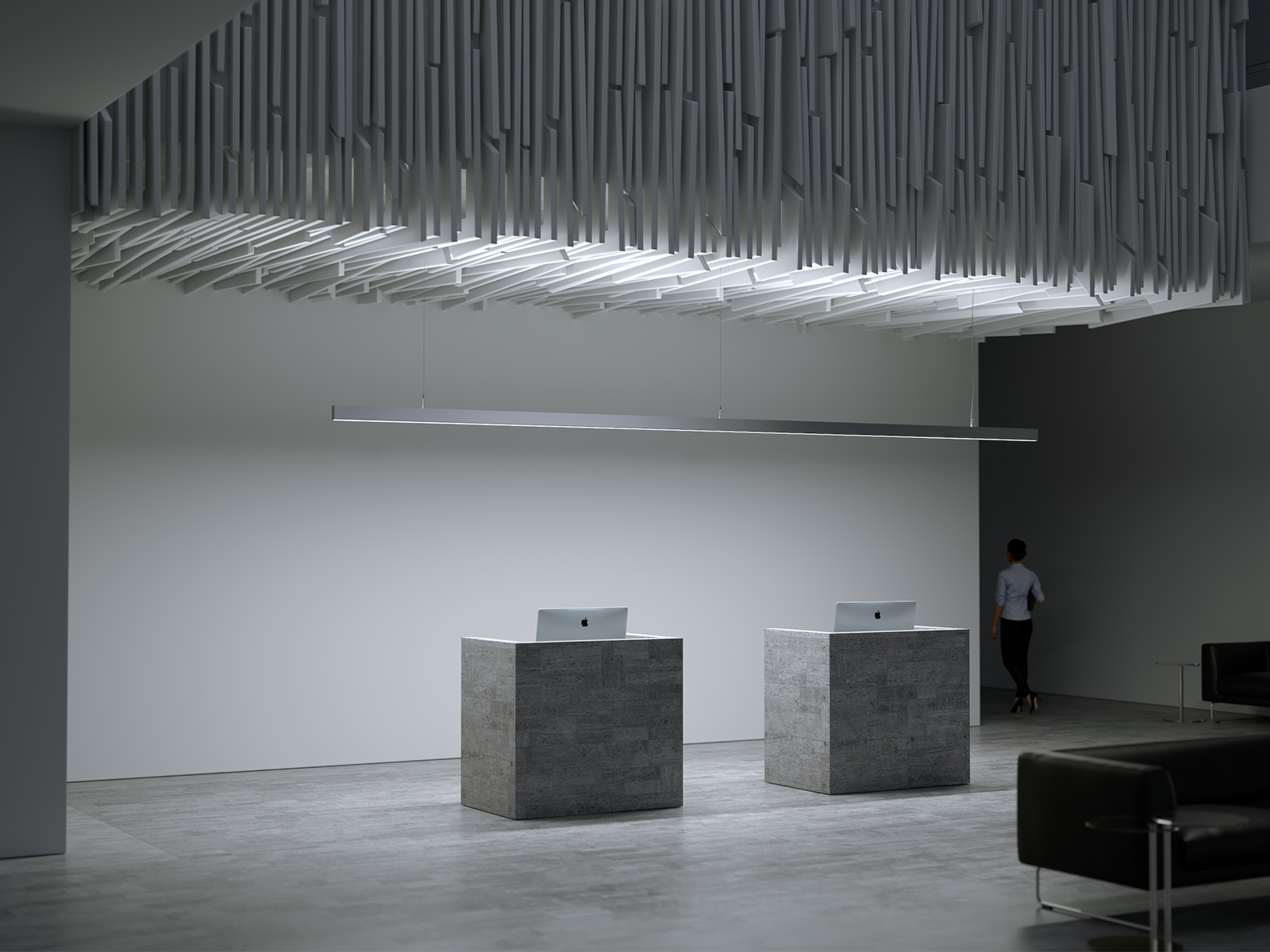 Lumines Dulio LED függeszték recepciós pult feletti LED világításhoz