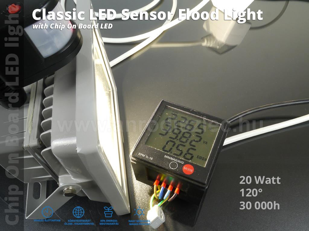 optonica mozg s rz kel s led reflektor 20 watt cob 120. Black Bedroom Furniture Sets. Home Design Ideas