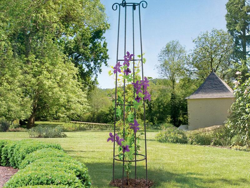 Nortene növényfuttató obeliszk, növénytartó torony