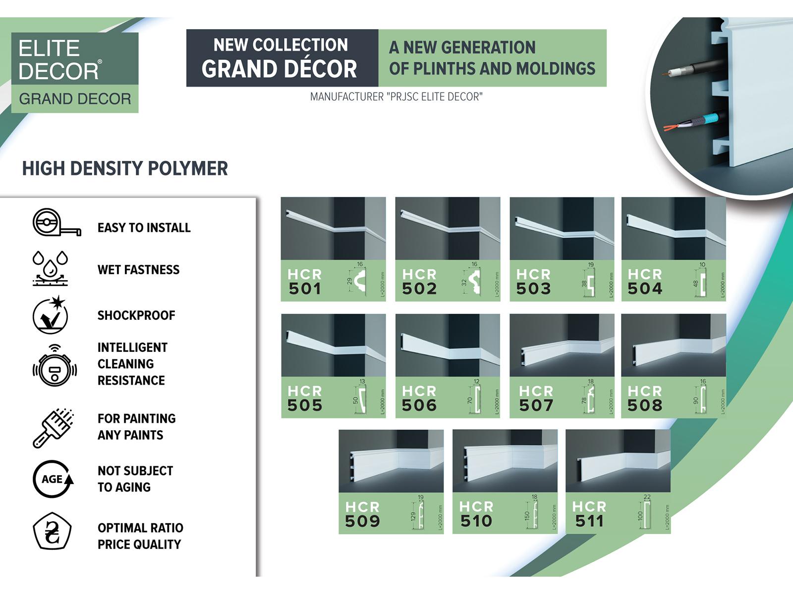 Az Elite Decor parkettaszegély léc kínálata, melynek minden eleme megvásárolható az ANRO Webáruházban!