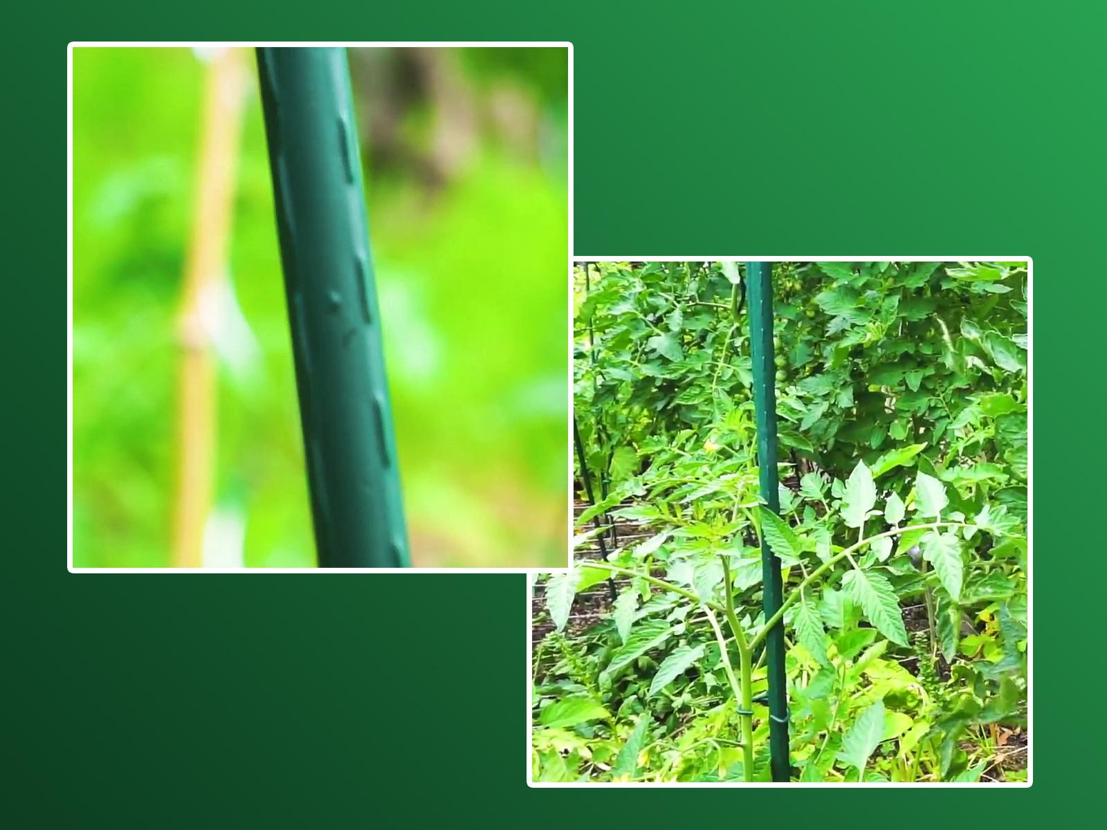 Steel Plast acél virágkaró zöld műanyag bevonattal