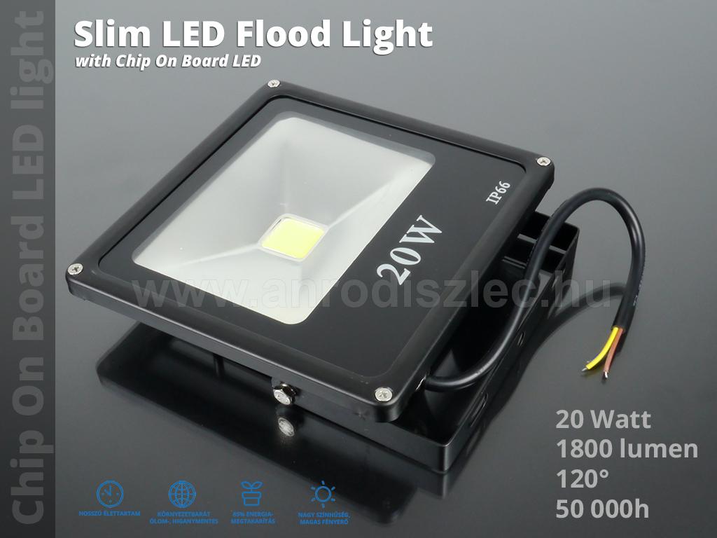optonica slim led reflektor 20 watt cob 120 meleg feh r. Black Bedroom Furniture Sets. Home Design Ideas