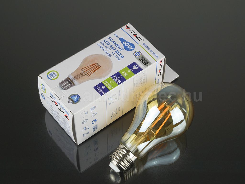 VTAC vintage filament. 8 Watt LED = 60 Watt hagyományos izzó